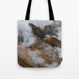 Kerlingjarfjöll smoky Mountains in Iceland - Landscape Photography Tote Bag