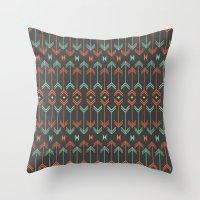 arrow Throw Pillows featuring Arrow by Priscila Peress
