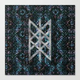 Web of Wyrd The Matrix of Fate - Silver & Gemstone Canvas Print
