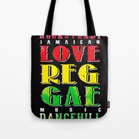 jamaica Tote Bags featuring Jamaica. by Grant Pearce