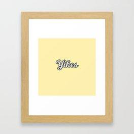 yikes II Framed Art Print
