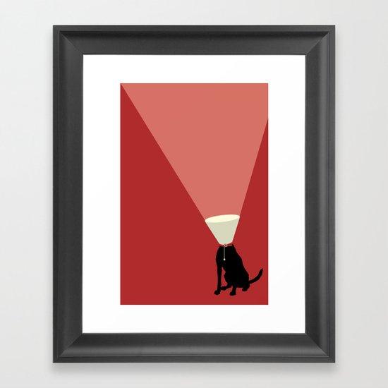 Lamp Dog Framed Art Print