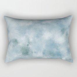 Blue dark green batic look Rectangular Pillow