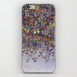 butterfly cascade iPhone Skin