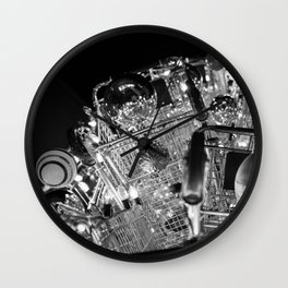 CHRISTMAS IN HOLLYWOOD - day six b&w Wall Clock