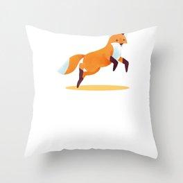 Fox Foxes Sleep Sleeping Watercolor Polygon Idea Throw Pillow