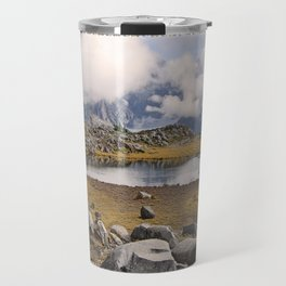 BLUE AND GOLD MOUNTAIN SOLITUDE Travel Mug