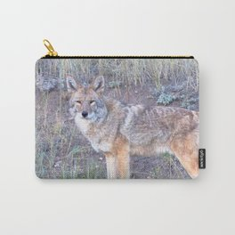 Watercolor Coyote 06, Estes Park, Colorado, Leader of the Pack Carry-All Pouch
