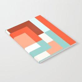 Squares Poppy + Mint Notebook