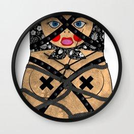 Bondage Matryoshka/Nesting Doll Wall Clock
