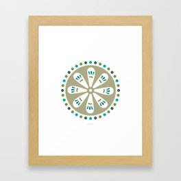 Folk Art Circle Framed Art Print