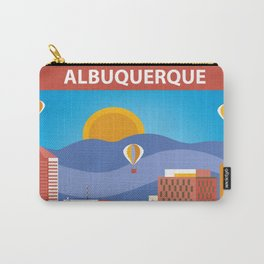 Albuquerque, New Mexico - Skyline Illustration by Loose Petals Carry-All Pouch