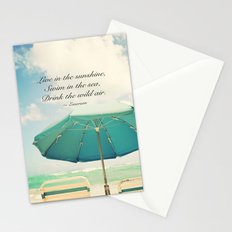 Live in the sunshine. Stationery Cards