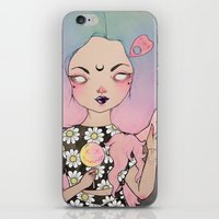flora iPhone & iPod Skins featuring Flora by lOll3
