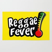 reggae Area & Throw Rugs featuring Reggae Fever by Marvin Porcher