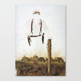 The Unknown Rider Silver Canyon Canvas Print