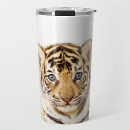 Baby Tiger, Baby Animals Art Print By Synplus Travel Mug