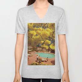 Hot town, summer in the city Unisex V-Neck
