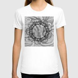 Gray Swirl Mandala T-shirt