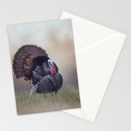 WIld Tom Turkey in the grassland Stationery Cards