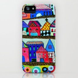 Mexican Town House of Colors Painting iPhone Case