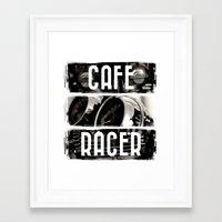 cafe racer Framed Art Prints featuring Cafe Racer by Rainer Steinke
