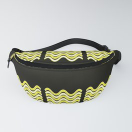 Team Colors 4... yellow, black Fanny Pack