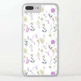 Tulum Floral 5 Clear iPhone Case