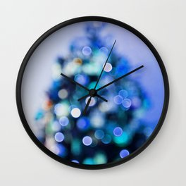 So this is Christmas in blue Wall Clock
