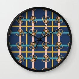 Leopard Check Mix Pattern Print III Wall Clock