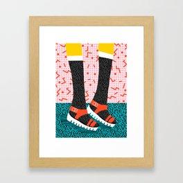 Kicks - throwback retro vintage 1980 1980's 80s 80's memphis bright neon colorful urban chic hipster Framed Art Print