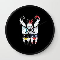 twins Wall Clocks featuring  Twins by ELKEFOLTZ