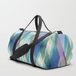 Abstract diamond crystals Duffle Bag