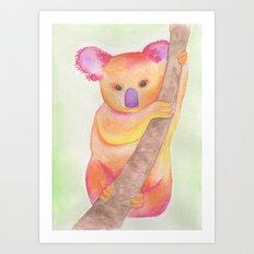 Colorful Koala Art Print