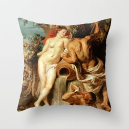 Peter Paul Rubens: The Union of Earth and Water (Antwerp and the Scheldt) Throw Pillow