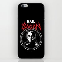 sagan iPhone & iPod Skins featuring HAIL SAGAN by Normal-Sized Deet