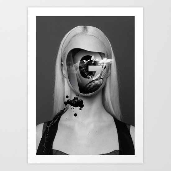 the Girl with no face Art Print