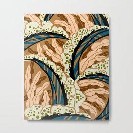 BALINESIA: BIG SKY RANCH, Art Deco Tropical Metal Print