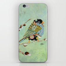 Cafe Swirly Bird 5 iPhone & iPod Skin