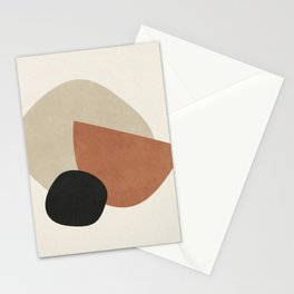 ABSTRACT GEOMETRIC ART - TERRACOTTA 15 Stationery Cards