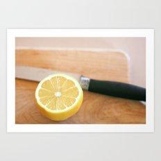 Sliced Lemon Art Print