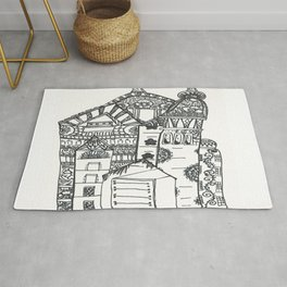 45. Halloween Castle with Henna Wall Rug
