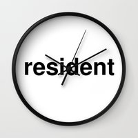 resident evil Wall Clocks featuring resident by linguistic94