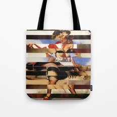 Glitch Pin-Up Redux: Daisy Tote Bag