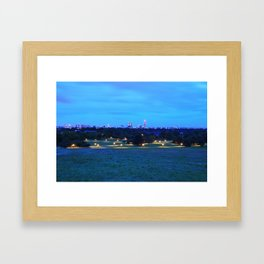Golden Night Lights Framed Art Print