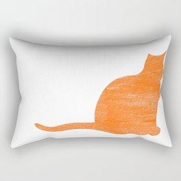 Vintage Orange Airplane Art Print Rectangular Pillow