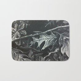 vectorized leaves Bath Mat