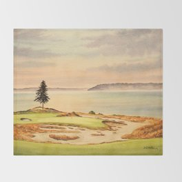 Chambers Bay Golf Course 15th Hole Throw Blanket