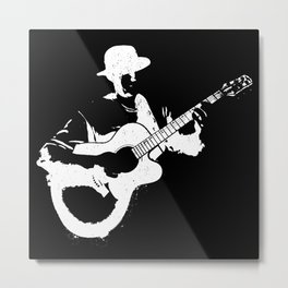 Musician playing Metal Print