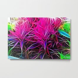 Abstract Fire - Vibrant Flora Metal Print